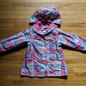 Osh Kosh Bgosh rain jacket snap up plaid